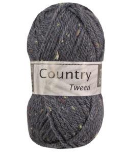 country Tweed donker grijs blauw acryl en wol garen
