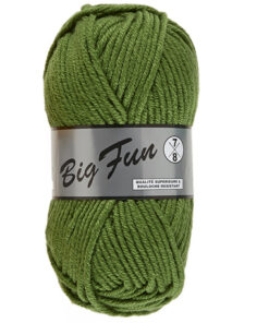 big fun groen dik acrylgaren